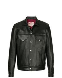 Chaqueta estilo camisa de cuero negra de Addict Clothes Japan
