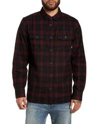 Chaqueta estilo camisa de franela de tartán negra