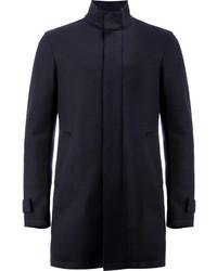 Chaqueta estilo camisa de lana azul marino de Herno