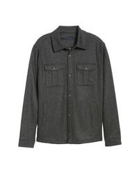 Chaqueta estilo camisa de lana en gris oscuro