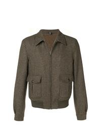 Chaqueta estilo camisa de lana marrón