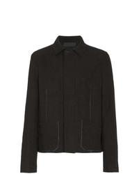 Chaqueta estilo camisa de lino negra de Haider Ackermann