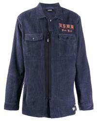 Chaqueta estilo camisa de pana azul marino de U.P.W.W.