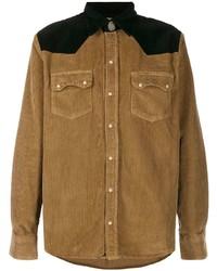 Chaqueta estilo camisa de pana marrón claro de Family First