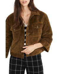 Chaqueta estilo camisa de pana marrón