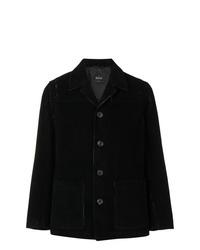 Chaqueta estilo camisa de pana negra de Hevo