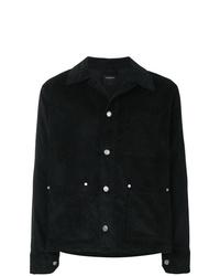 Chaqueta estilo camisa de pana negra de Tom Wood