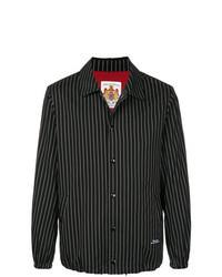Chaqueta estilo camisa de rayas verticales negra