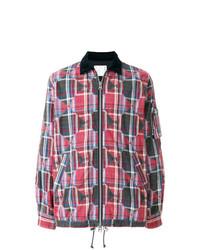 Chaqueta estilo camisa de tartán en multicolor de Sacai