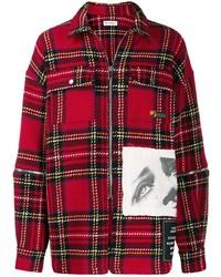 Chaqueta estilo camisa de tartán roja de Palm Angels