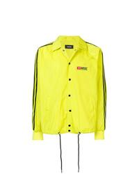 Chaqueta estilo camisa en amarillo verdoso de Diesel