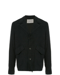 Chaqueta estilo camisa en gris oscuro de Cerruti 1881