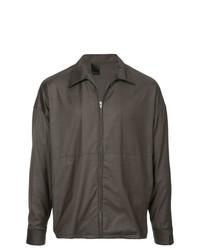 Chaqueta estilo camisa en gris oscuro de N. Hoolywood