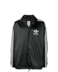 Chaqueta estilo camisa en negro y blanco de adidas