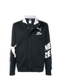 Chaqueta estilo camisa en negro y blanco de Puma