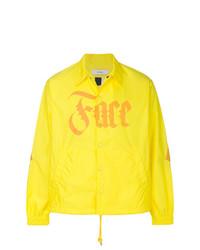Chaqueta estilo camisa estampada amarilla de Facetasm