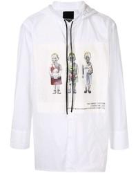 Chaqueta estilo camisa estampada blanca de Bmuet(Te)