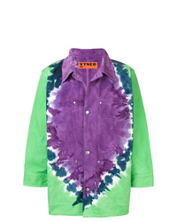 Chaqueta estilo camisa estampada en multicolor