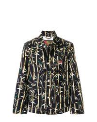 Chaqueta estilo camisa estampada negra de Kenzo