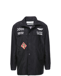 Chaqueta estilo camisa estampada negra de Off-White