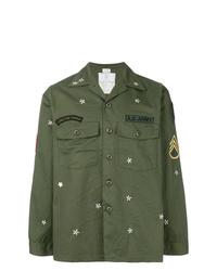 Chaqueta estilo camisa estampada verde oliva de As65