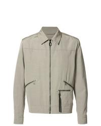 Chaqueta estilo camisa gris de Lanvin