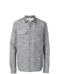 Chaqueta estilo camisa gris de Rick Owens