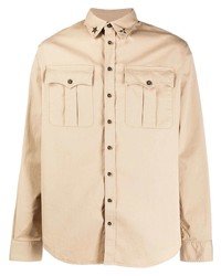 Chaqueta estilo camisa marrón claro de DSQUARED2