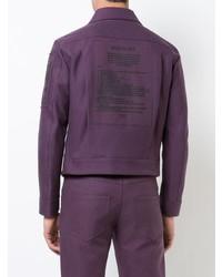 Chaqueta estilo camisa morado oscuro de Yang Li