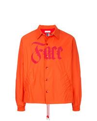 Chaqueta estilo camisa naranja