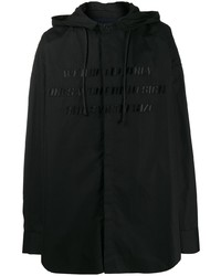 Chaqueta estilo camisa negra de Juun.J