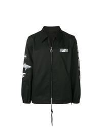 Chaqueta estilo camisa negra de Lanvin