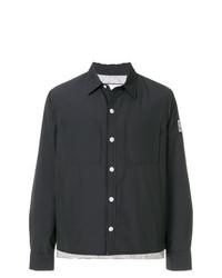 Chaqueta estilo camisa negra de Moncler Gamme Bleu