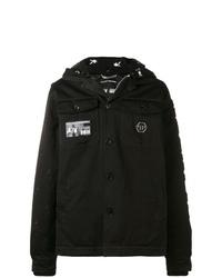 Chaqueta estilo camisa negra de Philipp Plein