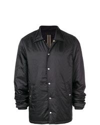 Chaqueta estilo camisa negra de Rick Owens DRKSHDW
