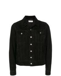 Chaqueta estilo camisa negra de Saint Laurent