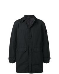 Chaqueta estilo camisa negra de Stone Island Shadow Project