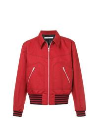 Chaqueta estilo camisa roja de Givenchy