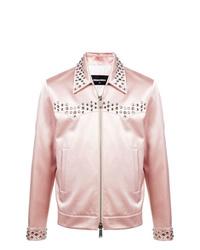 Chaqueta estilo camisa rosada de DSQUARED2