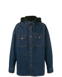 Chaqueta estilo camisa vaquera azul marino de Juun.J