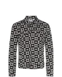 Chaqueta estilo camisa vaquera estampada negra de Dolce & Gabbana