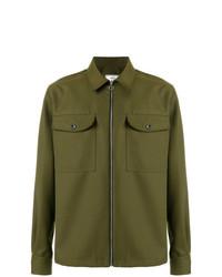 Chaqueta estilo camisa verde oliva de AMI Alexandre Mattiussi