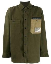 Chaqueta estilo camisa verde oliva de Diesel