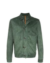 Chaqueta estilo camisa verde oliva de Isaia