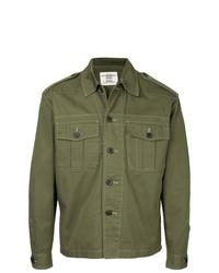 Chaqueta estilo camisa verde oliva de Kent & Curwen