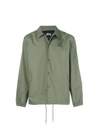 Chaqueta estilo camisa verde oliva de Stussy