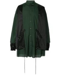 Chaqueta estilo camisa verde oscuro de Kidill