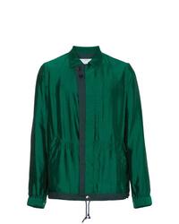 Chaqueta estilo camisa verde oscuro de Sacai