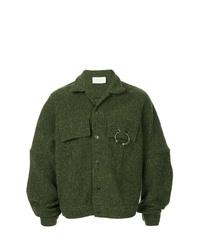 Chaqueta estilo camisa verde oscuro de Strateas Carlucci