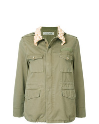 Chaqueta militar con adornos verde oliva de Tu Es Mon Trésor